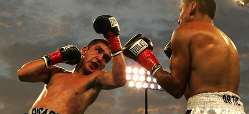 Enfrentamiento de Boxeo